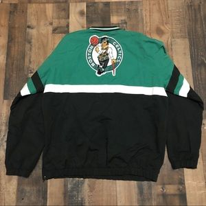 Vintage Boston Celtics NBA Pullover Windbreaker
